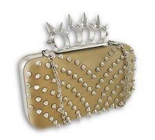 Spiked Knuckle Duster Clutch Purse