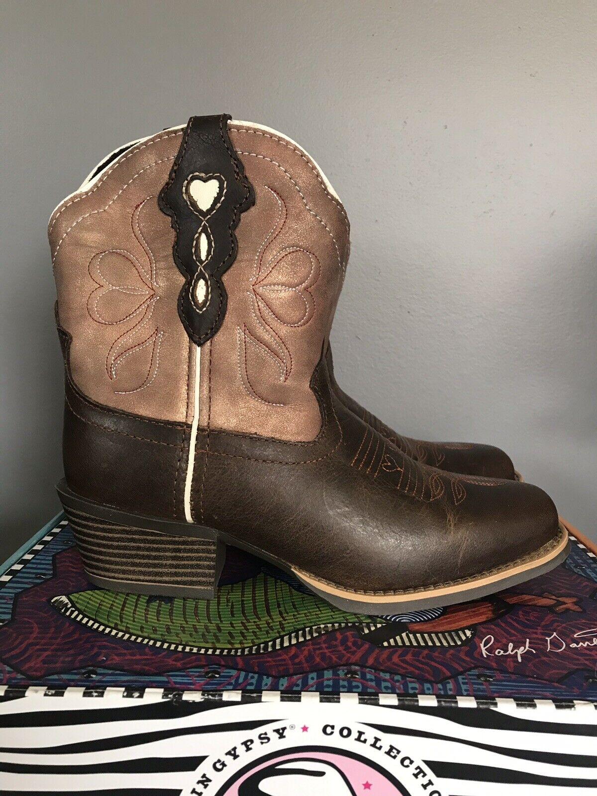 Justin gitano dedo del pie cuadrado de 7  De Cobre Chocolate Buffalo botas de vaquero L9511 Mujer 6.5