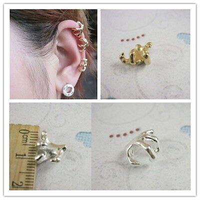 3pcs MINI DRAGON CLAW EAR CUFFS talon earcuffs earrings PUNK GOTH silver//gold pl