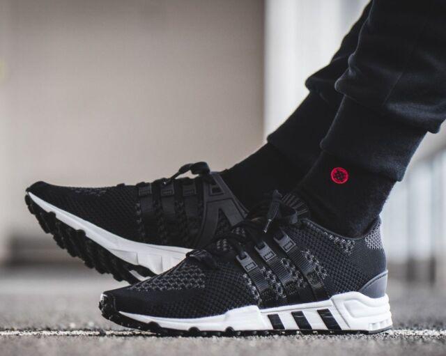 best website 3e255 269b1 New ADIDAS EQT Support RF Primeknit Sneaker Mens black white all sizes