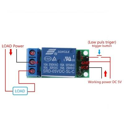 5V Flip-Flop Latch Relay Module Bistable Self-locking Switch  Trigger Board/_c.ke