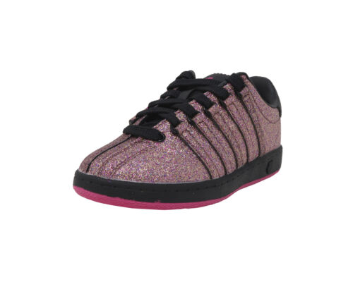 K-SWISS Shoes Girls Little Kid Classic VN Multi Sparkle Pink Black Sneaker