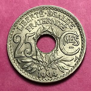 #489 - 25 Centimes 1914 Sup Facture