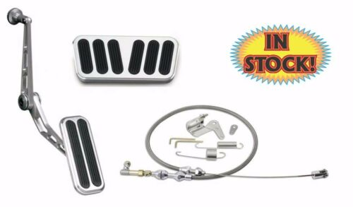 55-57 Chevy Pass Car Alum /& Rubber Pedal Kit W//Auto Lokar KBAG-6074A KIT
