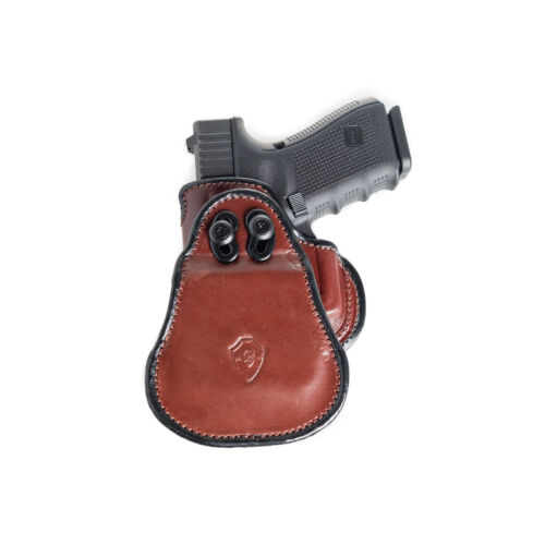 OWB LEATHER PADDLE WITH ADJUSTABLE CANT. PADDLE HOLSTER FOR SCCY CPX1 /& CPX2