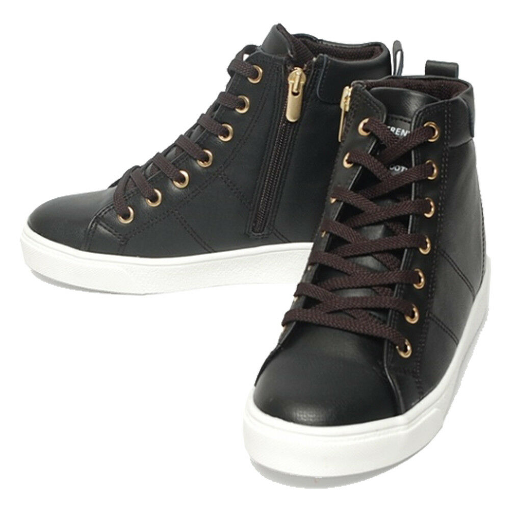 Epicsnob Womens shoes Wedge Lace Up High Top Trainers Zipper Fashion Sneakers