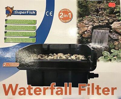 Filtermedien SuperFish Wasserfall Filter 2 in 1 Wasserfall und Teichfilter inkl