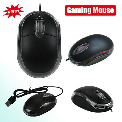 1200 DPI USB Wired Optical Gaming Game Mice Mouse For PC Laptop Computer Cute