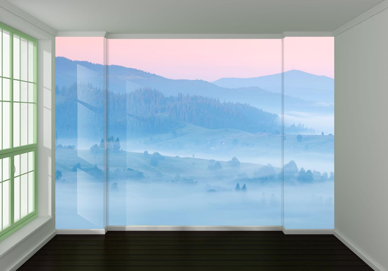 3D Neblig Dschungel Berg 88 Tapete Wandgemälde Tapete Tapeten Bild Familie DE