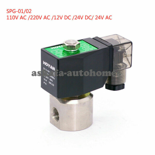 Solenoid Valve HP-DA 1//4/'/' high pressure brass PTFE 0-100bar 230V AC