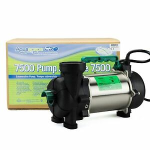 AQUASCAPE PRO #20004 7500 GPH SUBMERSIBLE POND/PONDLESS ...