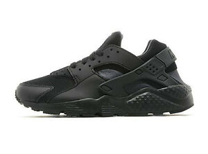 379bdd06307 Details about NIKE AIR HUARACHES RUN(GS) TRIPLE BLACK JUNIOR/KIDS TRAINER  SIZE 2 3 4 5 6