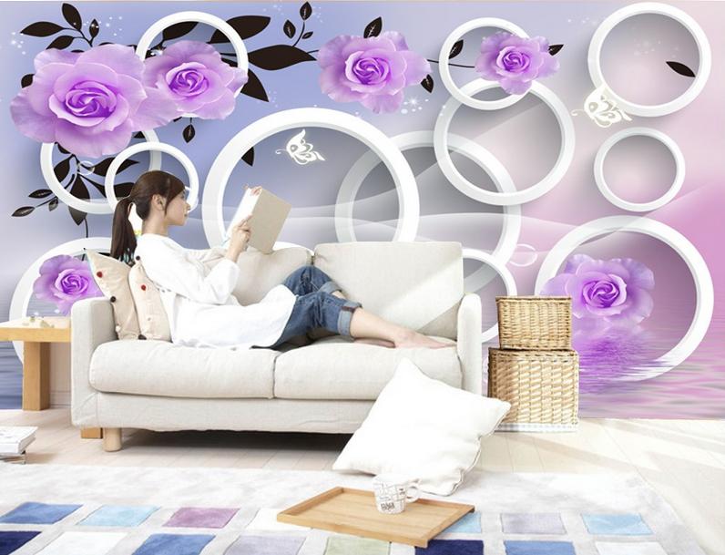 3D Lila Ring Rosan 864 Tapete Wandgemälde Tapete Tapeten Bild Familie DE Summer  | Shop Düsseldorf  | Ideales Geschenk für alle Gelegenheiten  | Ruf zuerst