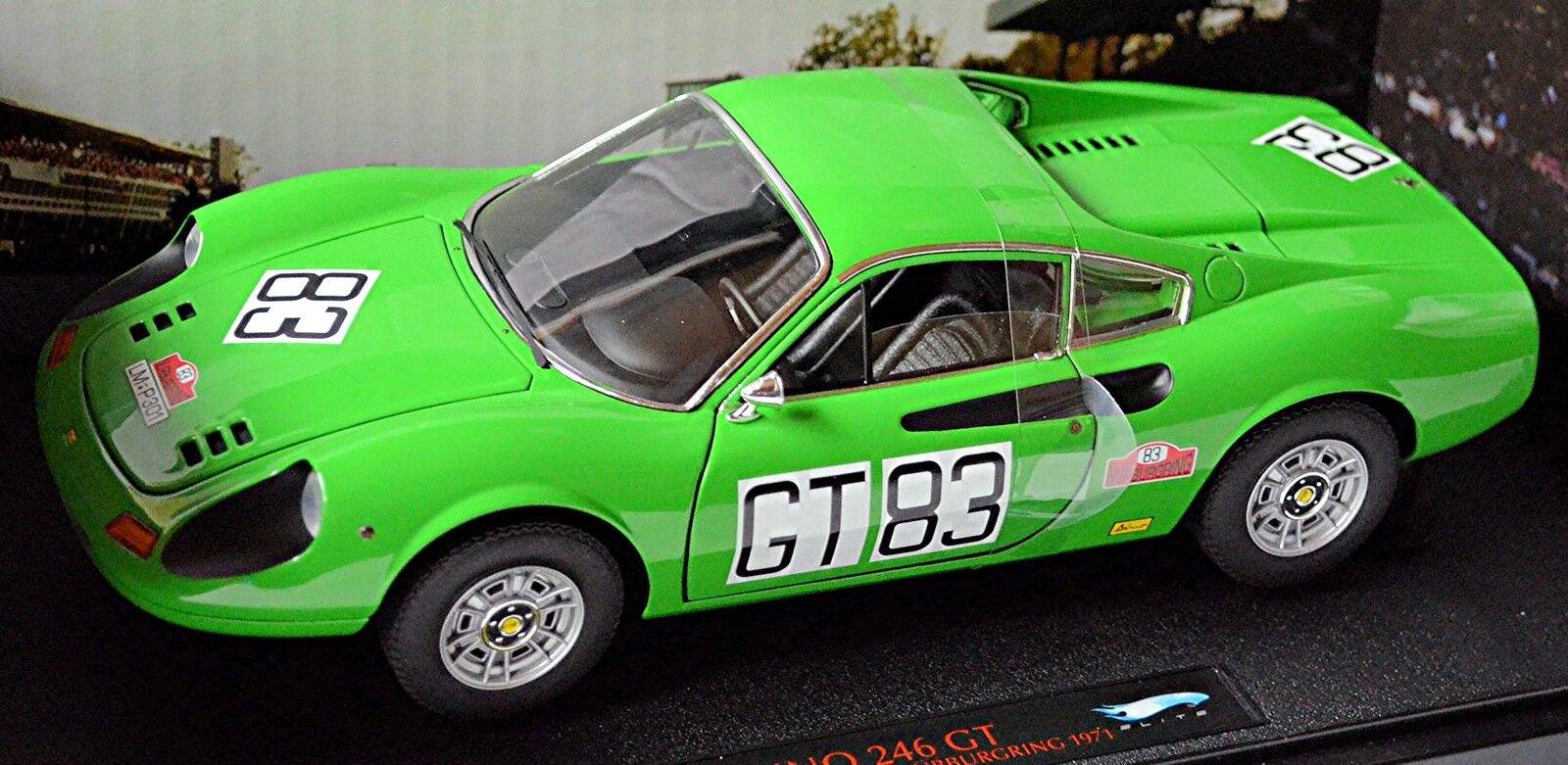 al precio mas bajo Ferrari Dino 246 GT 1000km of nurburgring 1971 1971 1971  gt 83 verde verde 1 18 elite-hotw  autorización