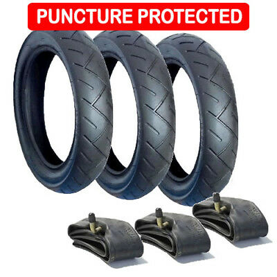 SET OF TYRES /&TUBES FOR PHIL /& TEDS EXPLORER PUSHCHAIRS WITH PUNCTURE TAPE