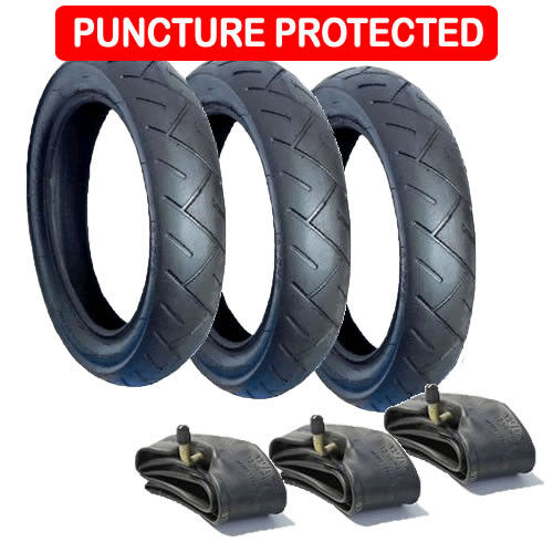 """Phil /& Teds Dot 10/"""" x 2 inch Tyre black tread and white wall Kenda Brand"""