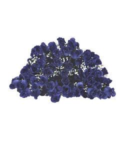 84-Long-Stem-Rose-Buds-Wedding-Silk-Dew-Flowers-NEW-6BL