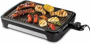George Foreman 25850 Smokeless Electric Grill, Indoor BBQ and Griddle Hot Plate