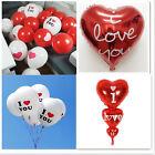 10/20Pcs Latex ''I LOVE YOU'' Heart Balloons Wedding Marriage Party Decor Ballon