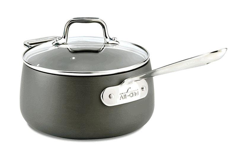 All Clad HA1 Adhérence Anodisé Dur 3.5 QT couvert casserole NEUF induction