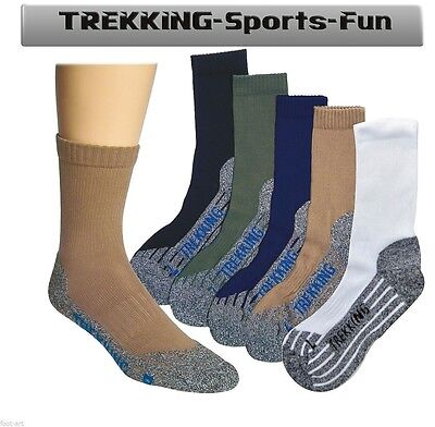 Coolmax Trekking Socken Wandersocken Freizeit Sport Hobby Mit Spezialpolsterung GläNzende OberfläChe