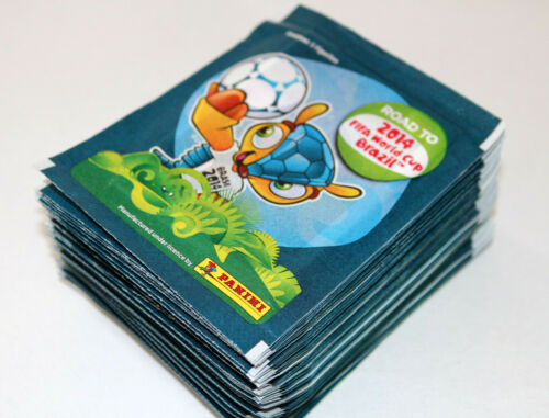 Panini ROAD TO FIFA WORLD CUP Brasil 2014-100 TÜTEN PACKETS SOBRES BUSTINE