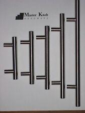"40 pack Modern Brush Nickel Stainless Steel 5"" T bar Kitchen Cabinet Handle Knob"