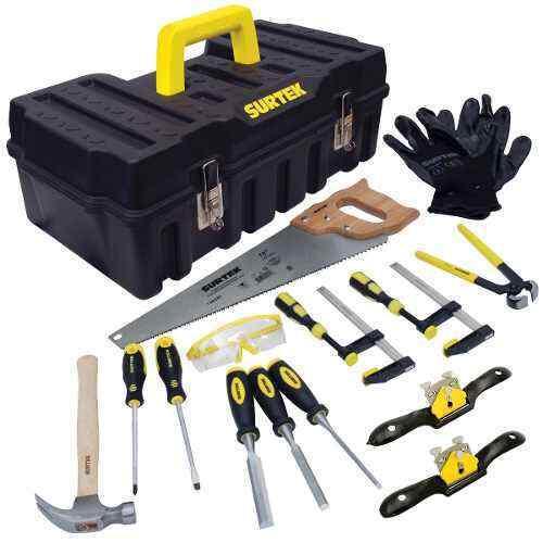 SURTEK JC14 14 pc carpenter set plasti box
