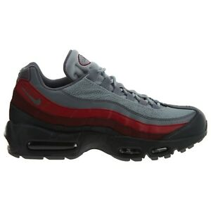 b9486306f3 Nike Air Max 95 Essential Mens 749766-025 Cool Grey Red Running ...