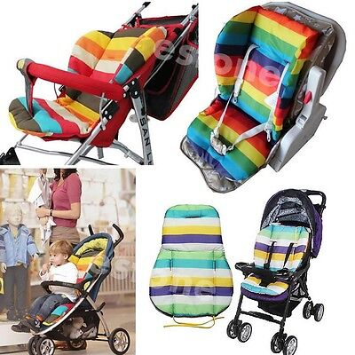 New Waterproof Baby Stroller Cushion Pad Pram Padding Liner//Car Seat Pad Rainbow