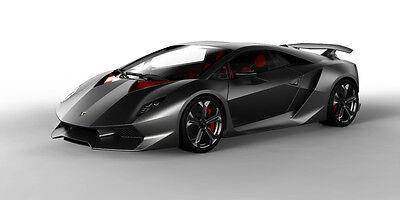 LAMBORGHINI SESTO ELEMENTO EXOTIC SPORTS CAR POSTER PRINT STYLE B 18x36 9 MIL