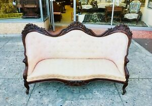 Image Is Loading Rosalie With Grapes Belter Parlor Sofa
