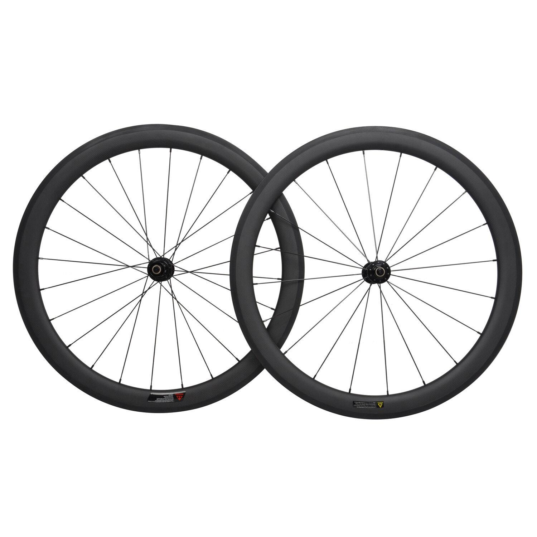 DT Swiss 240 Sapim Carbon Wheelset 50mm Clincher 3k Matt Road Bike Rim 700C race