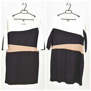 Womens-Joseph-Ribkoff-Black-Dress-Short-Sleeve-Stretch-Plus-Size-20US-22UK