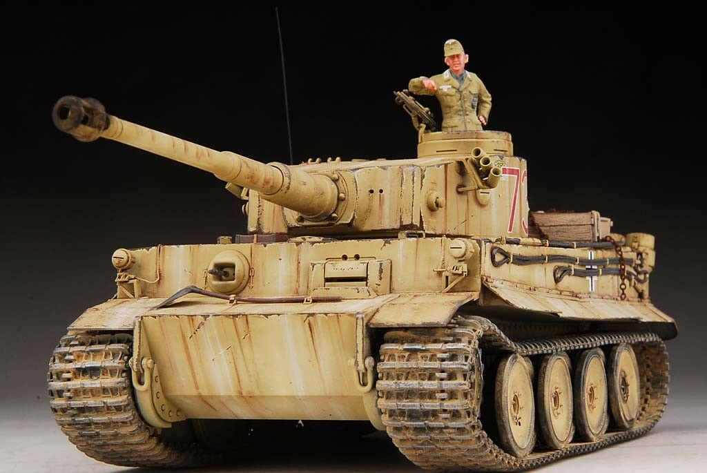 Built Tamiya 1 35 DAK Tiger Tank SS 501th +Figure +PE Acc, 3 Days Ready