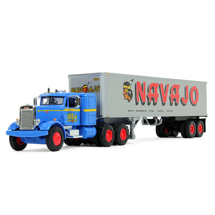 barato 2018 First Gear 1 64 64 64   Navajo Peterbilt Modelo 351 Semi Camión Remolque Vintage 40'  suministro de productos de calidad