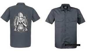 Mit Tattoo Modell gothikmotiv Marilyn Shirt Worker Einemtattoo Grau qSOEzEg