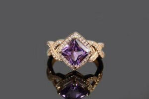 4Ct-Princess-Cut-Purple-Amethyst-Split-Shank-Engagement-Ring-14K-Rose-Gold-Over