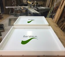 HDPE re-usable epoxy resin Molds-Make two molds into one large Mold