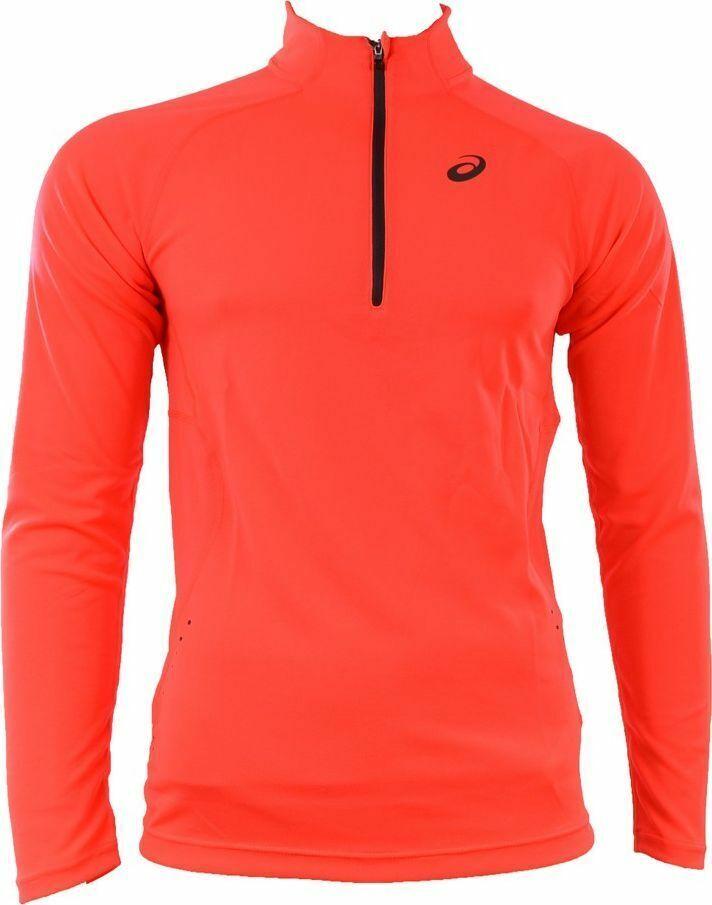 Asics Men's Running Top1/2 Zip Long Sleeve Jacket Winter 1/2 Zip Top - Pink -New