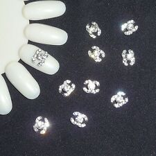 Nail Art 3D Metal Alloy Bling Rhinestone Crystal Logo Decoration 10pcs NEW -#62