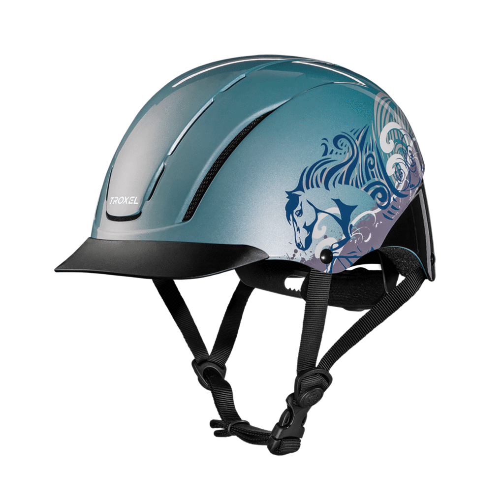 Troxel Riding Helmet Spirit cielo Dreamscape Horse Safety Low Profile Medium