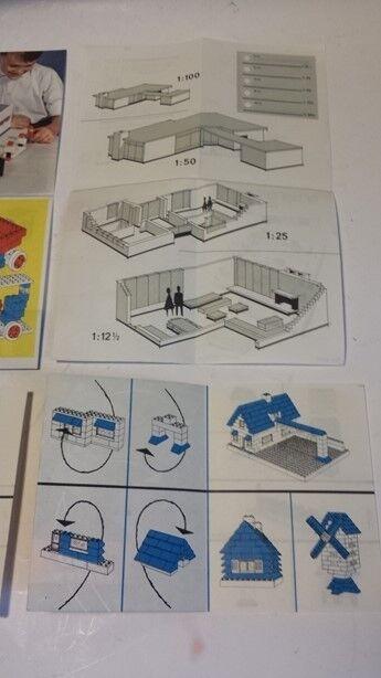 LEGO  50er U 60er anni opuscoli Pieghevoli 6 pezzi molto bene  da non perdere!