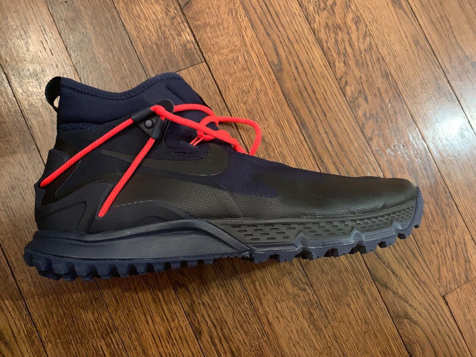 Nike Terra Sertig Boot Mens Size 11 Hiking Trail Dark Obsidian Black 916830-400