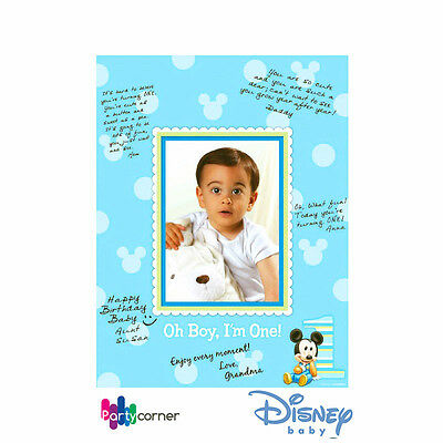 MICKEY MOUSE 1ST BIRTHDAY PARTY SUPPLIES AUTOGRAPH MATTE