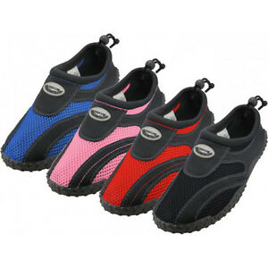 New-Youth-Boys-Girls-Slip-On-Water-Shoes-Aqua-Socks-Pool-Beach-Sizes-4-7