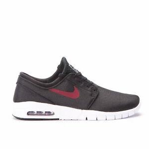 Details about Nike SB Zoom Stefan Janoski Max BLACK TEAM RED WHITE  631303-060 sz 12 SKATE SHOE