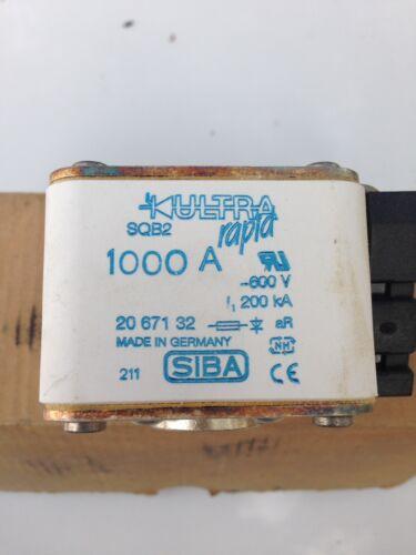 SIBA Ultra Rapid 1000A AC Fuse SQB2 Model 2067131