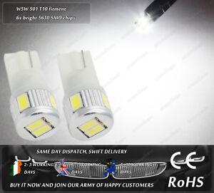 W5W-T10-Wedge-White-LED-SMD-Truck-Side-Lights-Parking-Bulbs-Sidelights-12v-24v