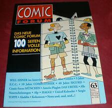 Comic Forum Band: 63 Das Magazin für Comicliteratur; Winter 1994